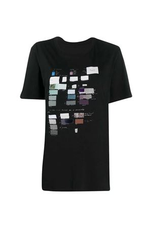 T- shirt nera con stampa MM6 Maison Margiela MM6 | 8 | S32GC0579S23588900