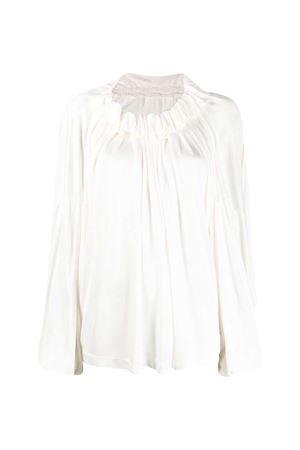 Blusa bianca con arricciatura MM6 Maison Margiela MM6 | 5032334 | S32NC0628S23387101
