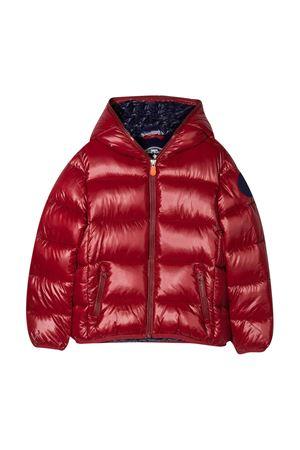 Red lightweight jacket teen Save The Duck kids  SAVE THE DUCK | 13 | J3128BLUCKY01955T