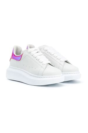 White sneakers with multicolor detail Alexander McQueen Alexander McQUEEN | 12 | 634737WHX1J9056