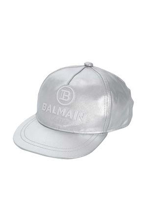 Cappello da baseball grigio metallizzato Balmain kids BALMAIN KIDS | 75988881 | 6N0547NX520925