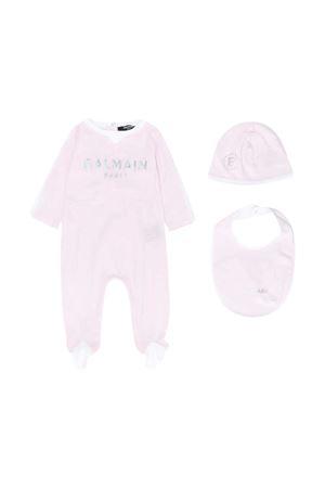 Pink baby kit Balmain kids BALMAIN KIDS | 75988878 | 6N0800NX310515