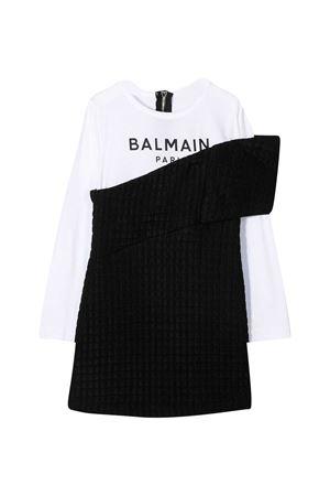 Black and white dress Balmain Kids  BALMAIN KIDS | 11 | 6N1160NB190930BC
