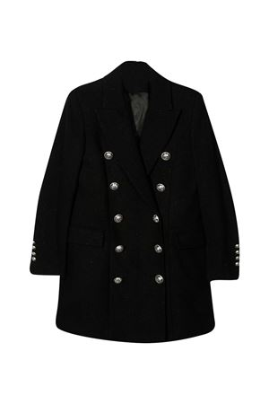 Cappotto nero teen Balmain Kids BALMAIN KIDS | 17 | 6N2030ND870930T
