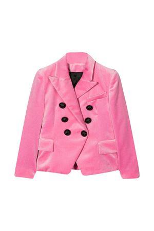 Blazer doppiopetto rosa Balmain kid BALMAIN KIDS | 5032278 | 6N2124NE710516
