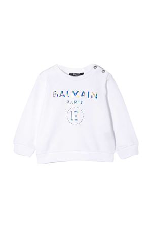 white baby sweatshirt Balmain kids  BALMAIN KIDS | -108764232 | 6N4300NX300100