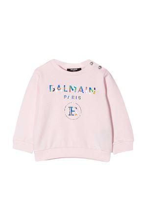 pink baby sweatshirt Balmain kids BALMAIN KIDS | -108764232 | 6N4300NX300515