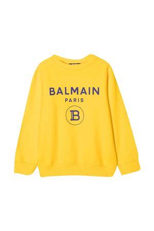 Felpa gialla Balmain Kids BALMAIN KIDS | -108764232 | 6N4670NX300201AZ
