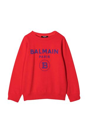 Felpa rossa Balmain Kids BALMAIN KIDS | -108764232 | 6N4670NX300412AZ