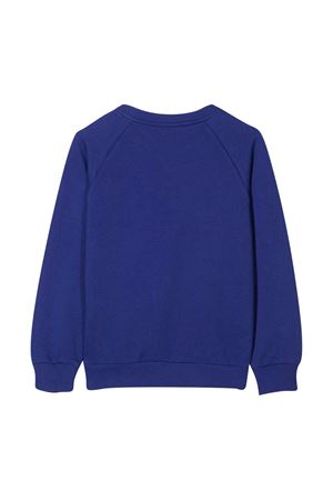 Blue sweatshirt with red logo Balmain kids BALMAIN KIDS | -108764232 | 6N4690NX300616