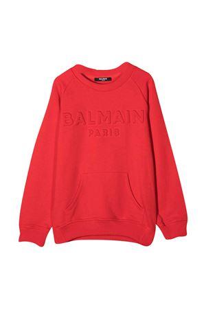 Orange sweatshirt with logo Balmain kids BALMAIN KIDS | -108764232 | 6N4700NX300412