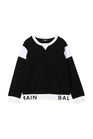 Black sweatshirt Balmain kids  BALMAIN KIDS | -108764232 | 6N4720NX300930BC