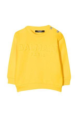 Yellow newborn sweatshirt Balmain Kids  BALMAIN KIDS | -108764232 | 6N4840NX300201