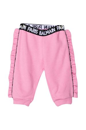 Pink trousers with elastic band Balmain kids BALMAIN KIDS | 9 | 6N6320NX300516