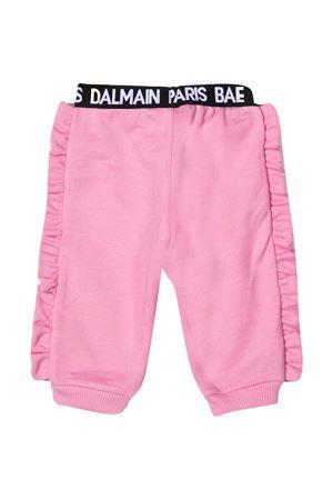 Pantalone rosa con banda elastica logata nera e bianca Balmain kids BALMAIN KIDS | 9 | 6N6320NX300516