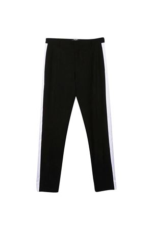 Pantalone nero teen con riga laterale Balmain kids BALMAIN KIDS | 9 | 6N6550NB880930T