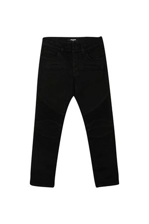 Black jeans with five pockets Balmain kids BALMAIN KIDS | 9 | 6N6560NA380930