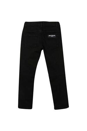 Black teen jeans with five pockets Balmain kids BALMAIN KIDS | 9 | 6N6560NA380930T