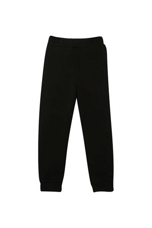 Black trousers with blue logo Balmain kids BALMAIN KIDS | 9 | 6N6637NX300930