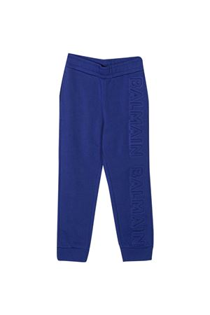 Blue trousers Balmain Kids  BALMAIN KIDS | 9 | 6N6697NX300616