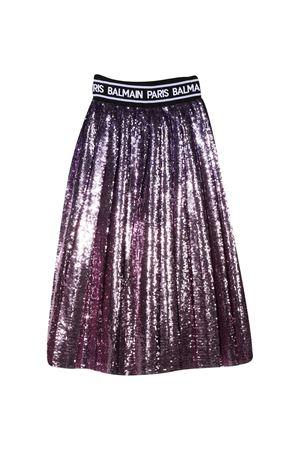 Purple teen paillettes skirt Balmain kids BALMAIN KIDS | 15 | 6N7030NF110515T