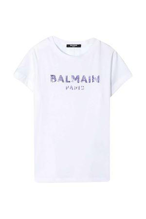 white t-shirt Balmain kids BALMAIN KIDS | 8 | 6N8041NC610100VI