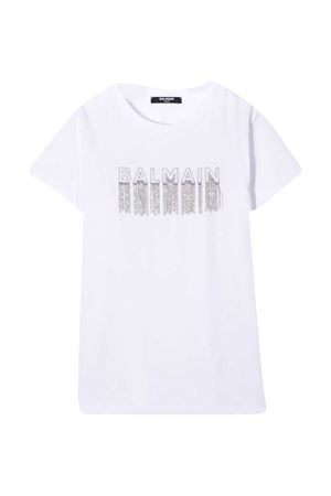 White T-shirt Balmain Kids  BALMAIN KIDS | 8 | 6N8061NC610100