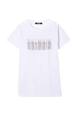 White T-shirt teen Balmain Kids  BALMAIN KIDS | 8 | 6N8061NC610100T