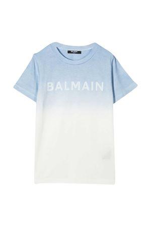 T-shirt teen con stampa sfumata Balmain kids BALMAIN KIDS | 8 | 6N8511NX290607T