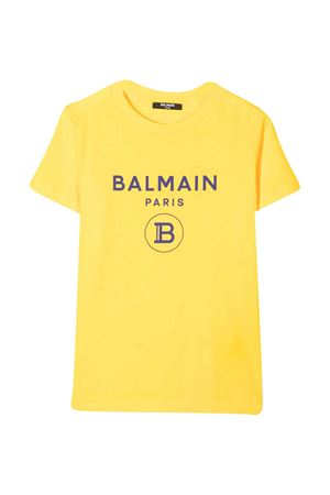 Yellow teen t-shirt Balmain kids BALMAIN KIDS   8   6N8561NX290201AZT