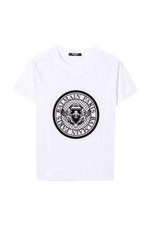 White t-shirt Balmain Kids  BALMAIN KIDS | 8 | 6N8611NX310100NE