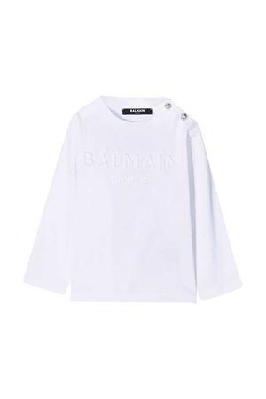 White newborn t-shirt Balmain Kids  BALMAIN KIDS | 8 | 6N8850NX290100