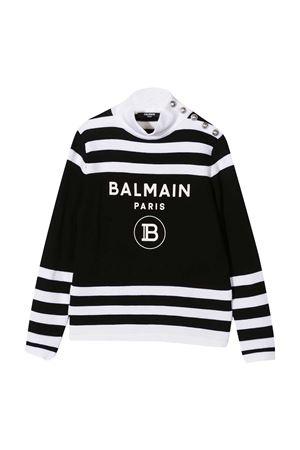 Maglione nero teen Balmain Kids BALMAIN KIDS | 7 | 6N9060NA820930BCT