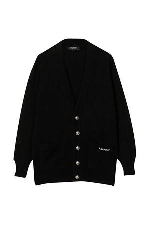 Black cardigan Balmain Kids  BALMAIN KIDS | 7 | 6N9580NE340930