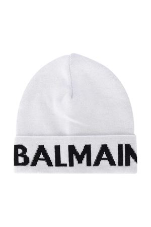 White hat with black logo Balmain kids BALMAIN KIDS | 75988881 | 6NA807NA820100NE
