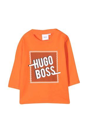 Orange t-shirt Boss Kids BOSS KIDS | 8 | J05800417