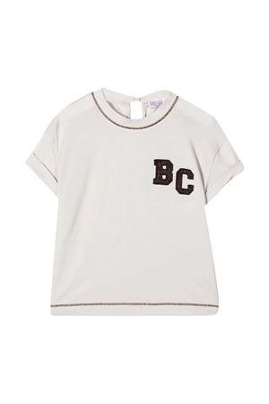 T-shirt bianca teen Brunello Cucinelli Kids Brunello Cucinelli Kids | 8 | B0045T215C9443T