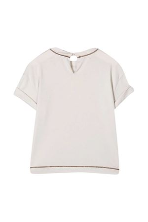 T-shirt bianca Brunello Cucinelli Kids Brunello Cucinelli Kids | 8 | B0045T215C9443
