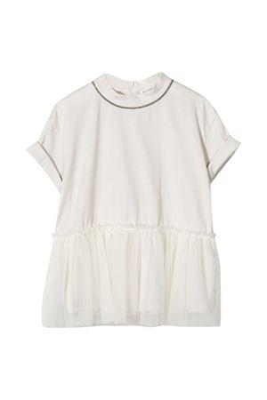 White teen round neck dress Brunello Cucinelli kids Brunello Cucinelli Kids | 11 | B0045T235CD818T