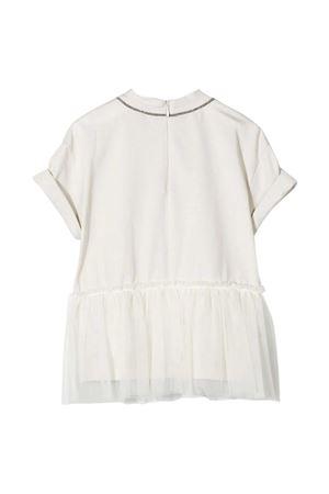 White round neck dress Brunello Cucinelli kids Brunello Cucinelli Kids | 11 | B0045T235CD818