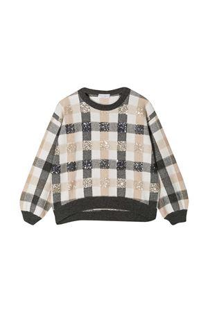 Brunello Cucinelli Kids checked sweater  Brunello Cucinelli Kids | -108764232 | B16M15310BCS720