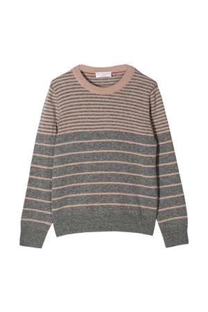Striped sweater teen Brunello Cucinelli Kids  Brunello Cucinelli Kids   7   B22M10700CY836T