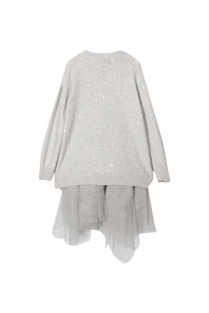 Gray dress Brunello Cucinelli Kids  Brunello Cucinelli Kids | 11 | B73M50A90C2719