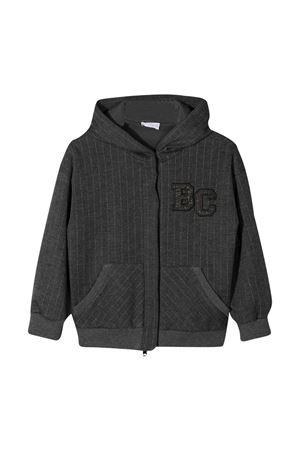 Brunello Cucinelli Kids gray hooded sweatshirt Brunello Cucinelli Kids | -108764232 | BA179E242C001