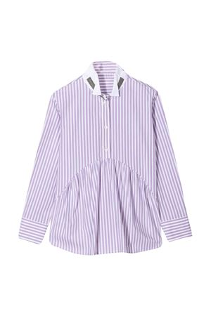 Purple striped chemisier teen runello Cucinelli Kids Brunello Cucinelli Kids | 5032334 | BA735C417C084T