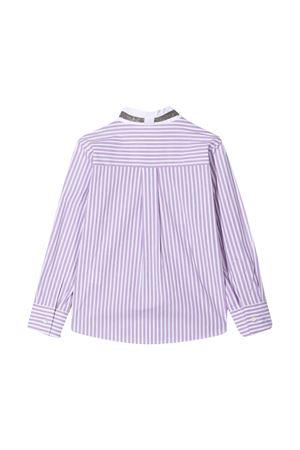 Purple striped chemisier Brunello Cucinelli Kids Brunello Cucinelli Kids | 5032334 | BA735C417C084