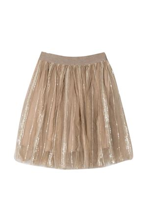 Brunello Cucinelli Kids gold pleated skirt  Brunello Cucinelli Kids | 15 | BA960S208C7906