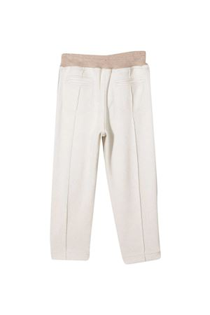 Brunello Cucinelli Kids white trousers  Brunello Cucinelli Kids | 9 | BE843E308CA731