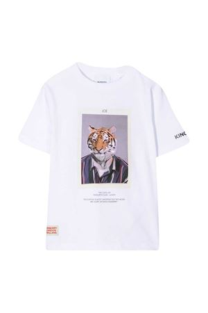 White teen t-shirt with print Burberry kids BURBERRY KIDS | 8 | 8030646A1464T