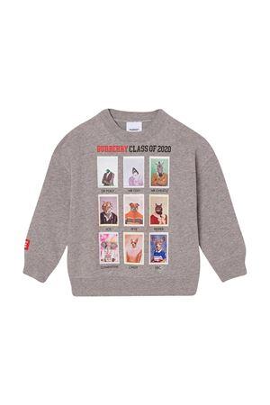 Grey sweatshirt with print Burberry kids BURBERRY KIDS | -108764232 | 8030651A1216